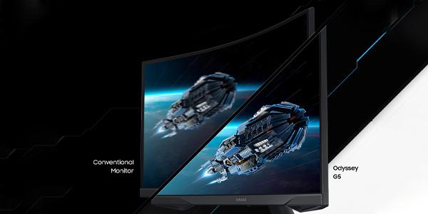"""จอคอม Samsung Odyssey G5 32"""" Curved @144Hz Monitor อัตรารีเฟรช"""