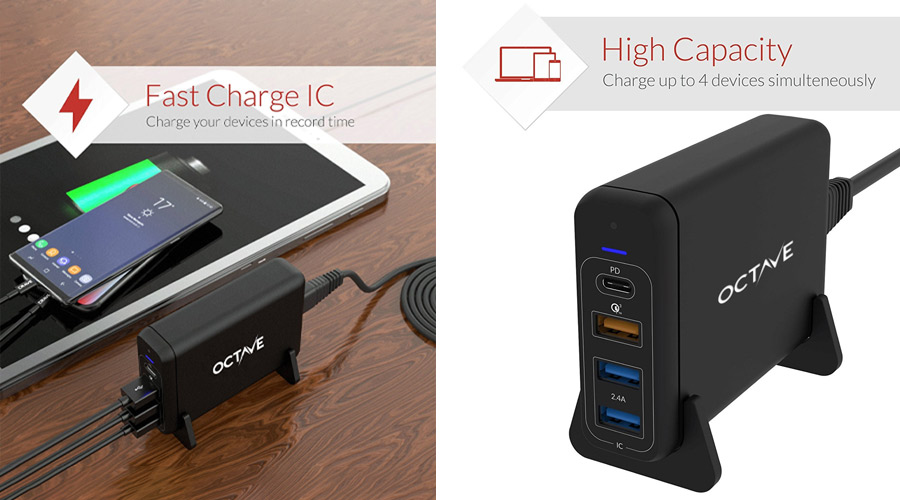 หัวชาร์จ OCTAVE Xtreme Port P75 4Ports Adapter ราคา