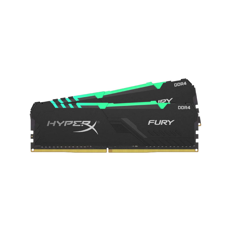แรม Kingston 32GB (16GBx2) HyperX FURY RGB 3466MHz