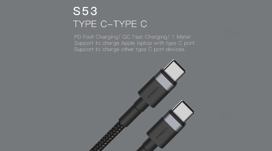 สายชาร์จ Eloop S53 3A Type-C to Type-C ราคา