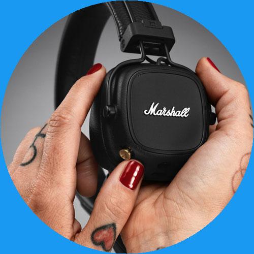 หูฟังไร้สาย Marshall Major IV Wireless Headphone แบตเตอรี่สุดอึด