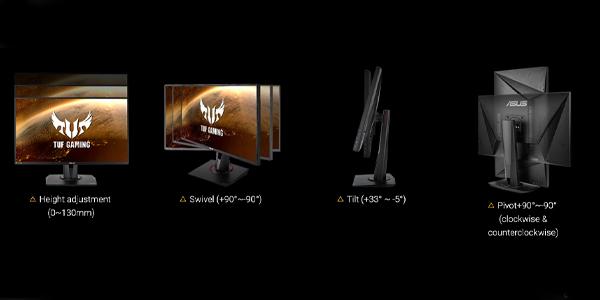 """จอคอม Asus TUF VG259Q 24.5"""" IPS Gaming Monitor 144Hz ดีไซน์"""