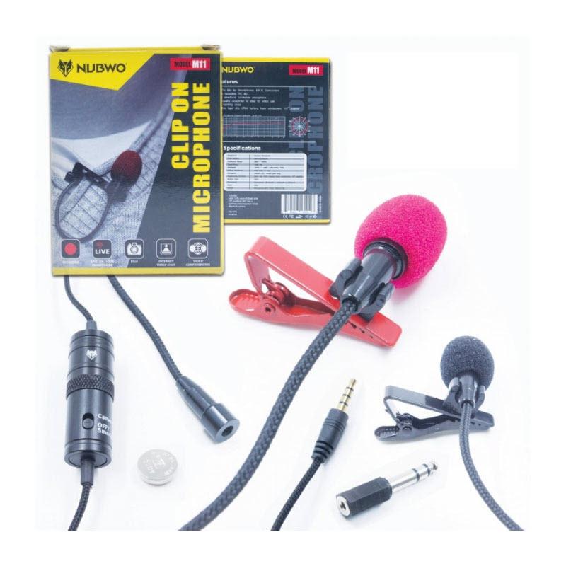 ไมโครโฟน Nubwo M11 Clip on Microphone