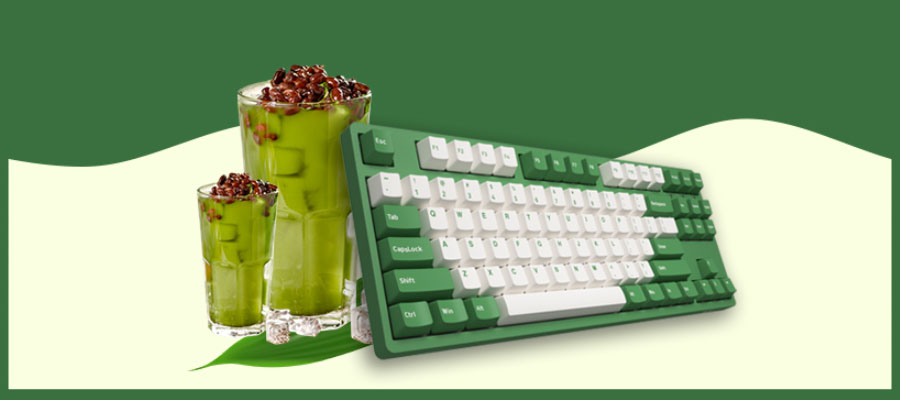 คีย์บอร์ด Akko 3087DS Matcha Red Bean Keyboard Gateron Switch ราคา