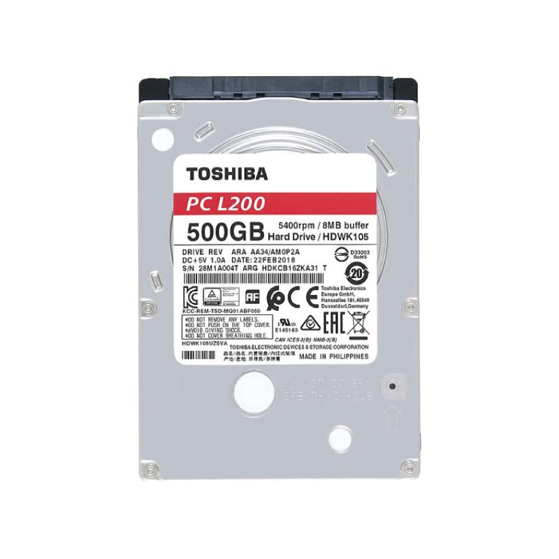 """HDD Toshiba 2.5"""" 5400RPM (L200)"""