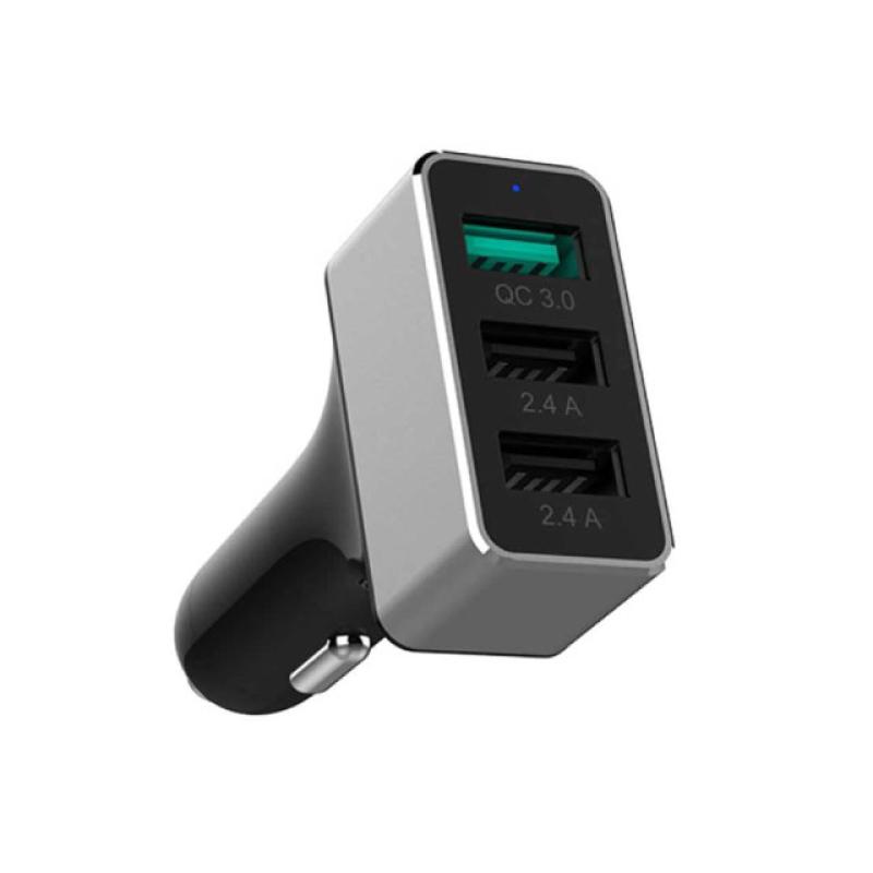 หัวชาร์จในรถ Unitek Smart Car Charger QC3.0 3 Port 42W