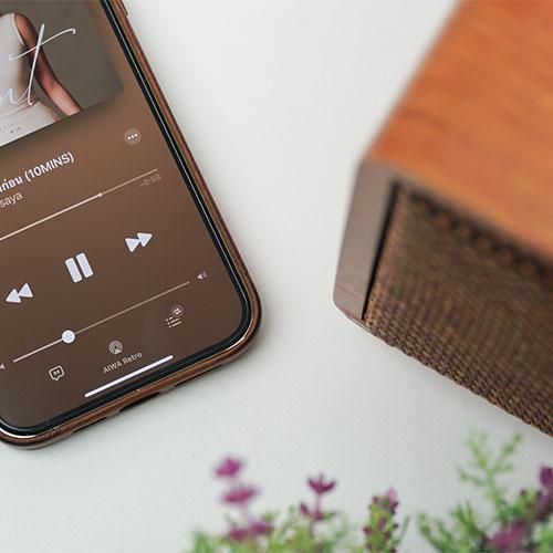 ลำโพงไร้สาย AIWA MI-X100 Retro Bluetooth Speaker สุดคลาสสิค
