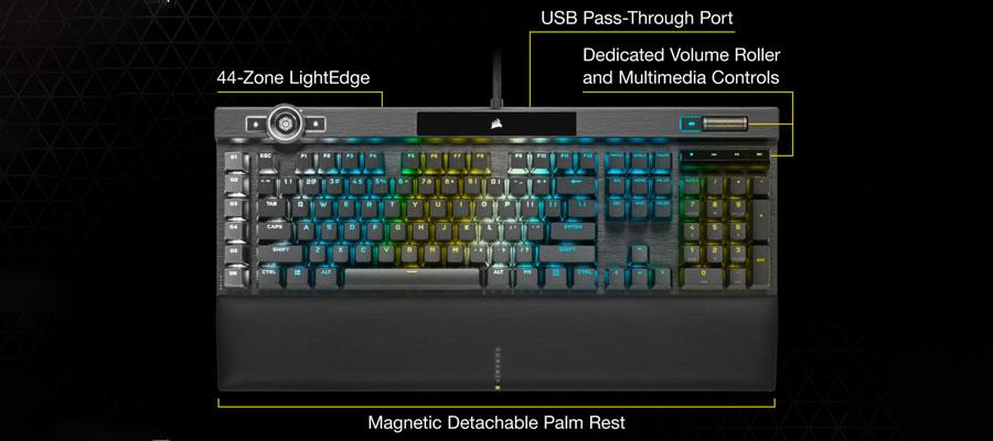 สรุป คีย์บอร์ด Corsair K100 RGB Mechanical Keyboard การออกแบบ
