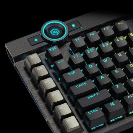 คีย์บอร์ด Corsair K100 RGB Mechanical Keyboard ปุ่มควบคุม