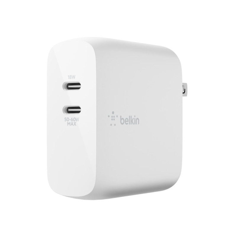 หัวชาร์จ Belkin BOOST CHARGE Dual USB-C GaN Charger 68W