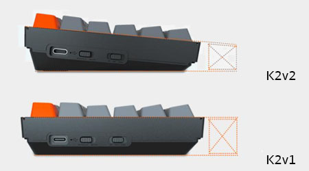 คีย์บอร์ดไร้สาย Keychron K2 V.2 Wireless Hotswap Mechanical Keyboard TH เปรียบเทียบ