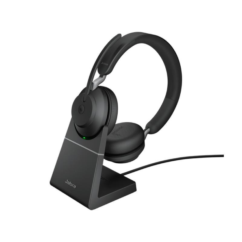 หูฟัง Call Center Jabra Evolve2 65 MS with Desk Stand
