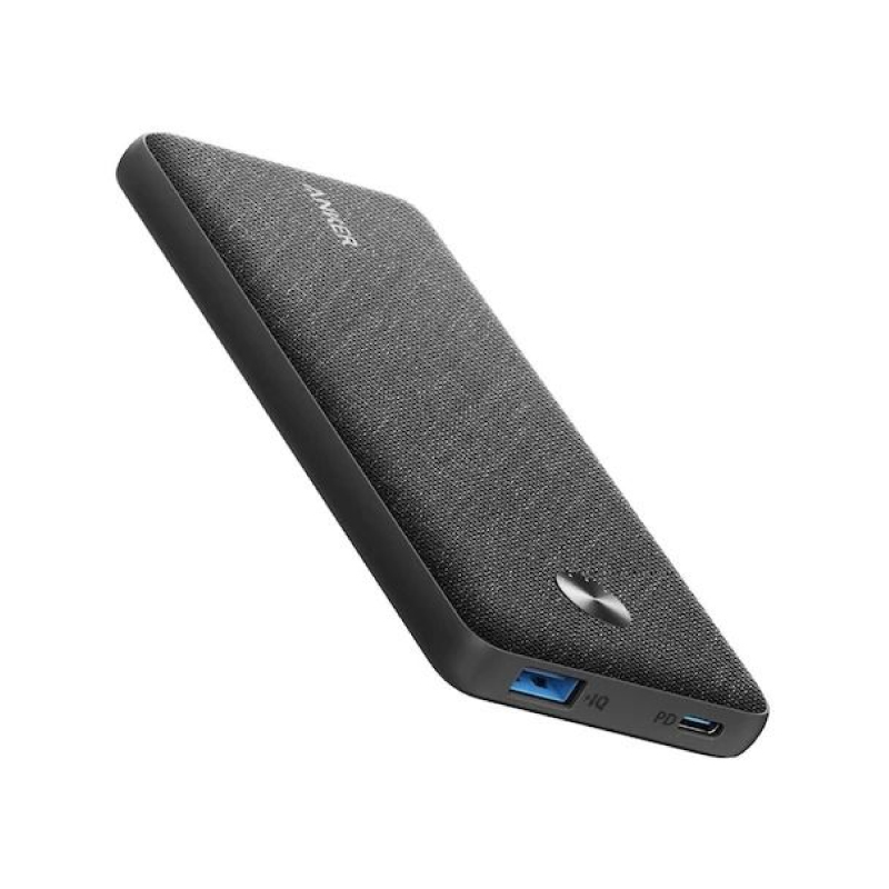 แบตสำรอง Anker PowerCore Metro Slim 10000 PD Black Fabric Version