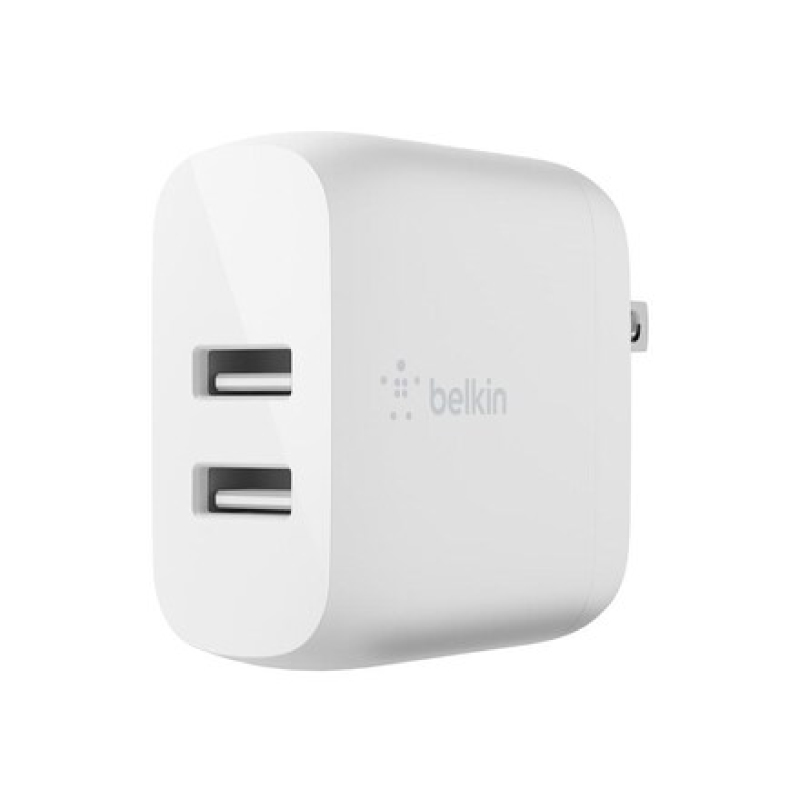 หัวชาร์จ Belkin BOOSTCHARGE Dual USB-A Wall Charger 24W