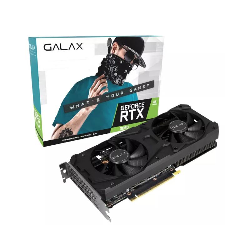 การ์ดจอ Galax Geforce RTX 3060 1-Click OC PCI-E 12GB GDDR6 192 Bit VGA