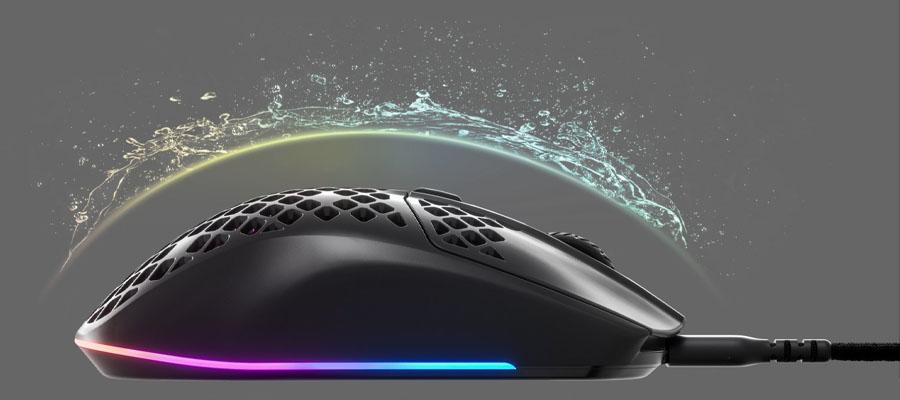 เมาส์ไร้สาย SteelSeries Aerox 3 Wireless Gaming Mouse กันน้ำ