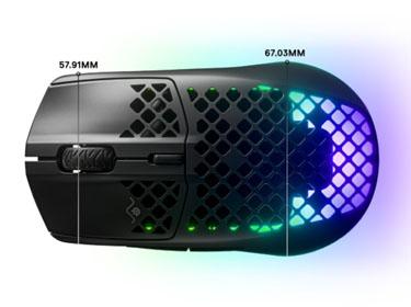 เมาส์ไร้สาย SteelSeries Aerox 3 Wireless Gaming Mouse การออกแบบ