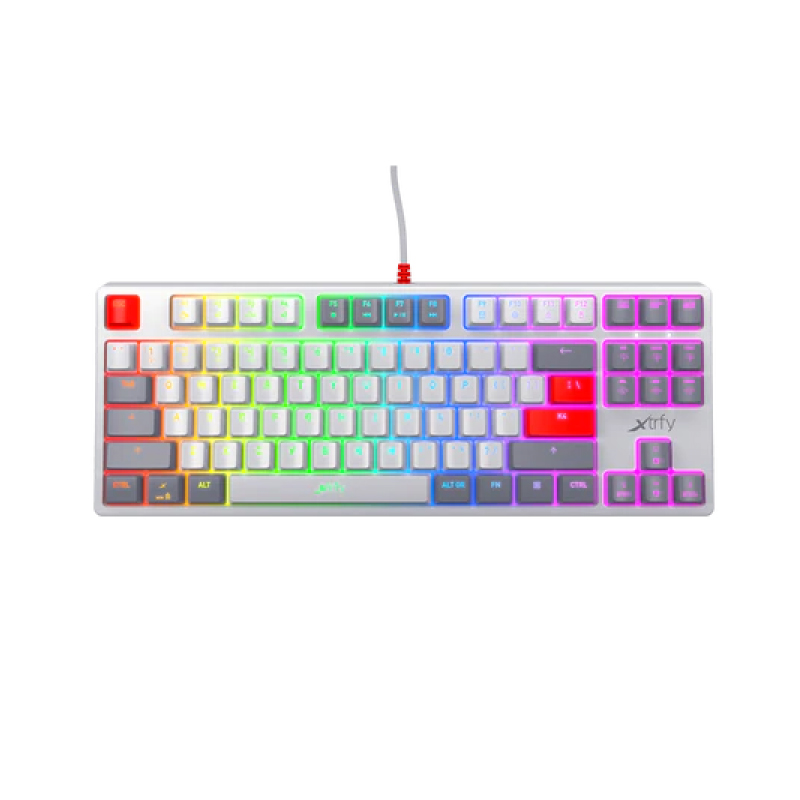 คีย์บอร์ด Xtrfy K4 TKL RGB Retro Mechanical Keyboard TH