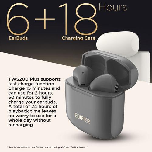 หูฟังไร้สาย Edifier TWS200 Plus True Wireless ใส่สบาย