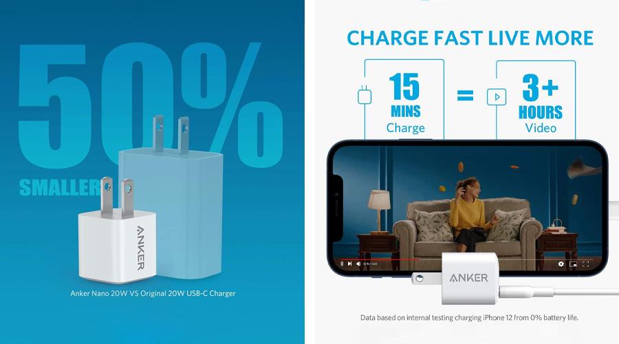หัวชาร์จ Anker PowerPort III Nano 20W PIQ3.0 (PD+QC3.0) ราคา