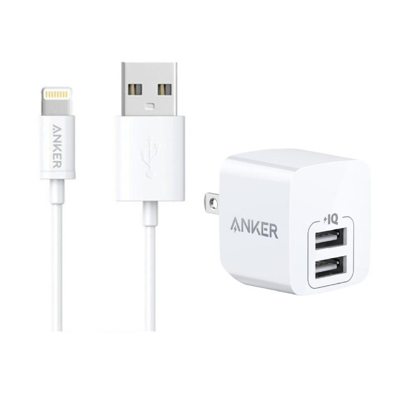 ชุดพร้อมชาร์จ Anker PowerPort Mini + MFI USB to Lightning Bundle