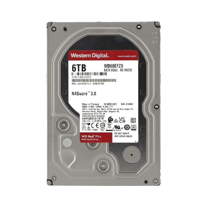 ฮาร์ดดิสก์ WD 6 TB SATA III (WD60EFZX) Red Plus Harddisk