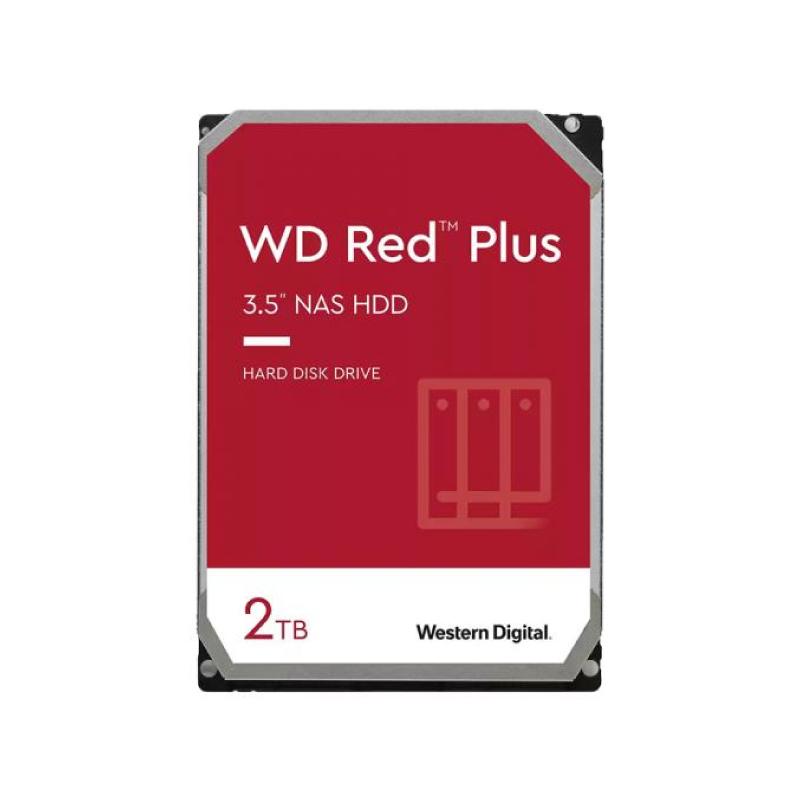 ฮาร์ดดิสก์ WD 2 TB Red Plus Harddisk (WD20EFZX)