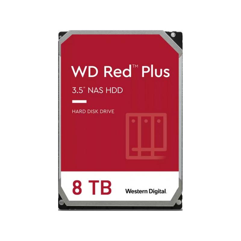 ฮาร์ดดิสก์ WD 8TB NAS SATA III Red Plus Harddisk (WD80EFBX)