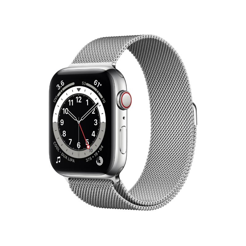นาฬิกา Apple Watch Series 6 Silver Stainless Steel Case with Milanese Loop