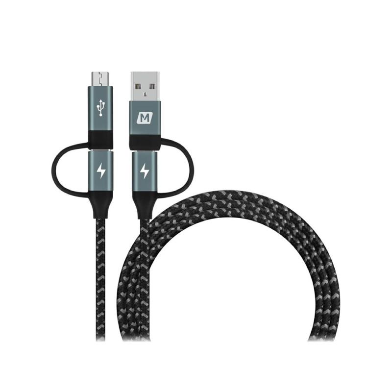 สายชาร์จ Momax One Link 4 in 1 Type-C PD (USB-A/Type-C to Micro USB/Type-C) Cable (1.2M)