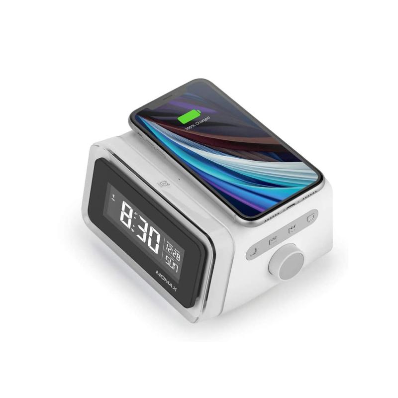แท่นชาร์จไร้สาย Momax Q.CLOCK 2 Digital Clock with Wireless Charger