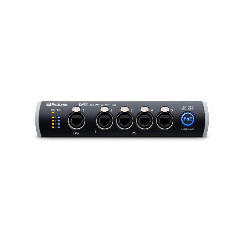 PreSonus SW5E 5-port AVB Switch