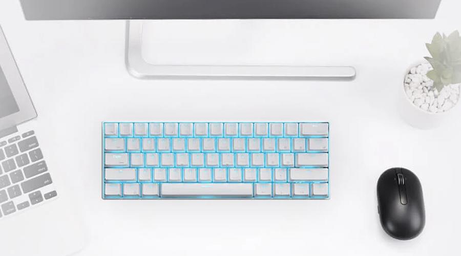 คีย์บอร์ด Royal Kludge RK61 White Wireless Gaming Keyboard ราคา
