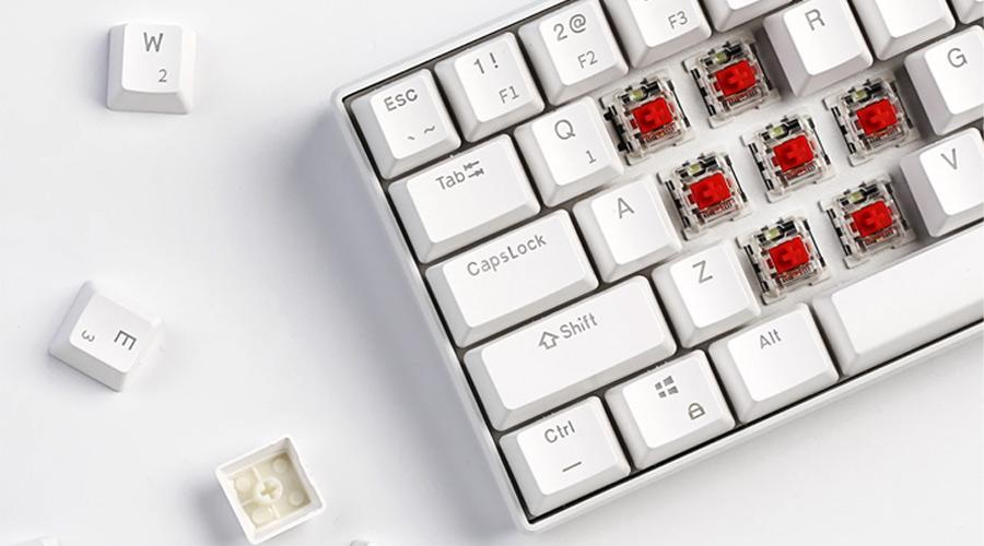 คีย์บอร์ด Royal Kludge RK61 White Wireless Gaming Keyboard คุ้มค่า