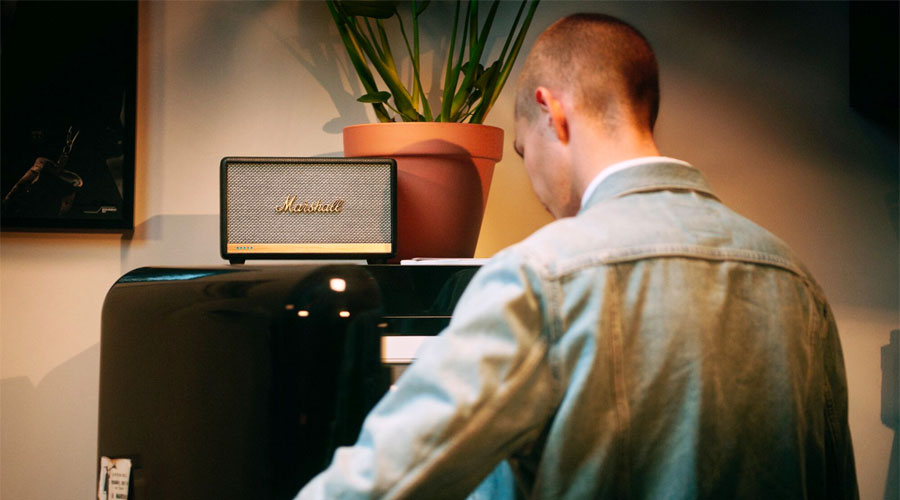 ลำโพงไร้สาย Marshall ACTON II Voice With Amazon Alexa Wireless Speaker เสียงสไตล์มาแชล