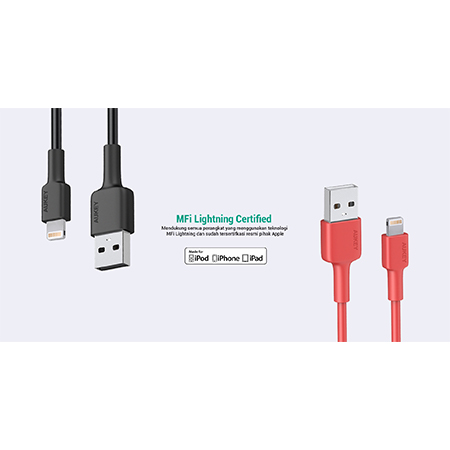 Aukey CB-BAL1 Lightning 8 pin Sync and Charging Cable คุ้มค่า