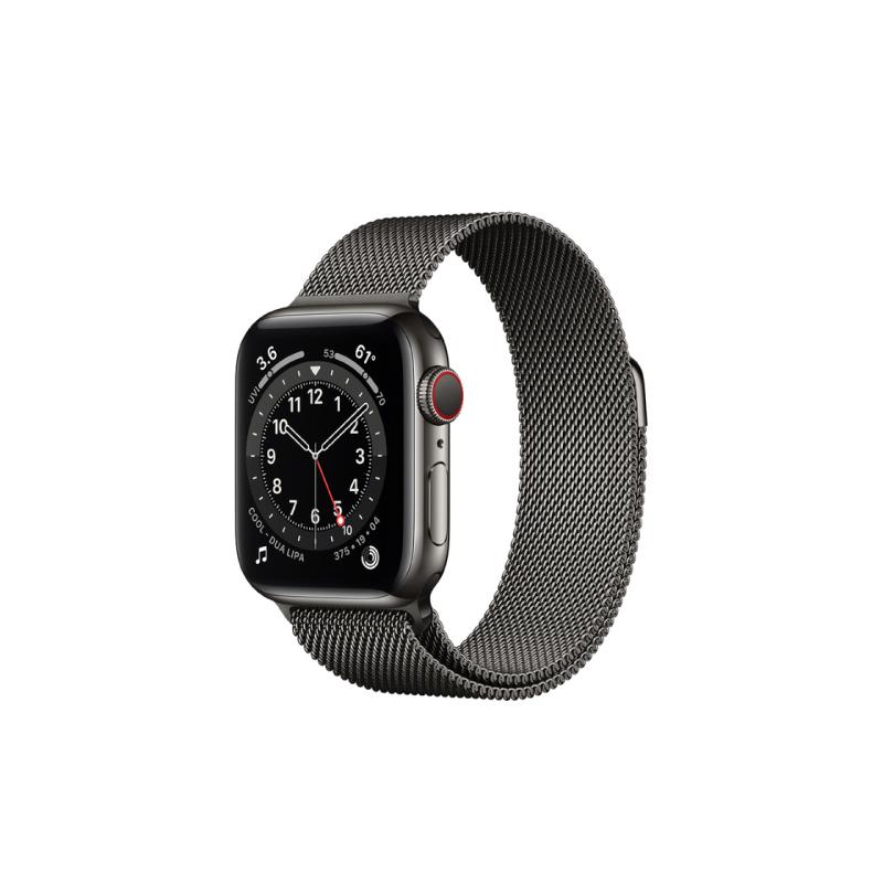นาฬิกา Apple Watch Series 6 Graphite Stainless Steel Case with Milanese Loop