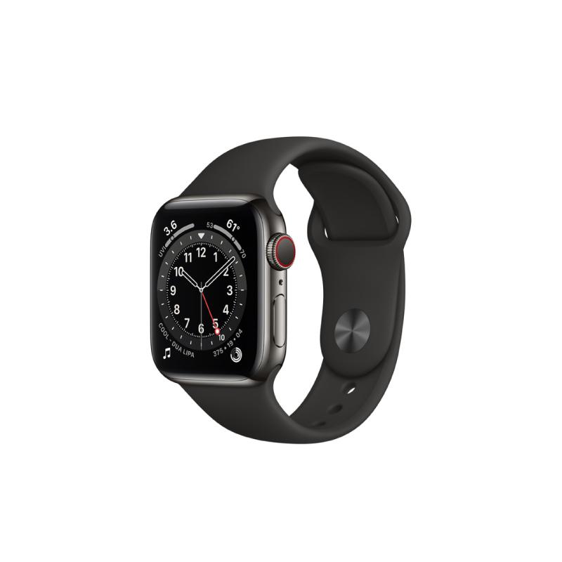 นาฬิกา Apple Watch Series 6 Graphite Stainless Steel Case with Sport Band