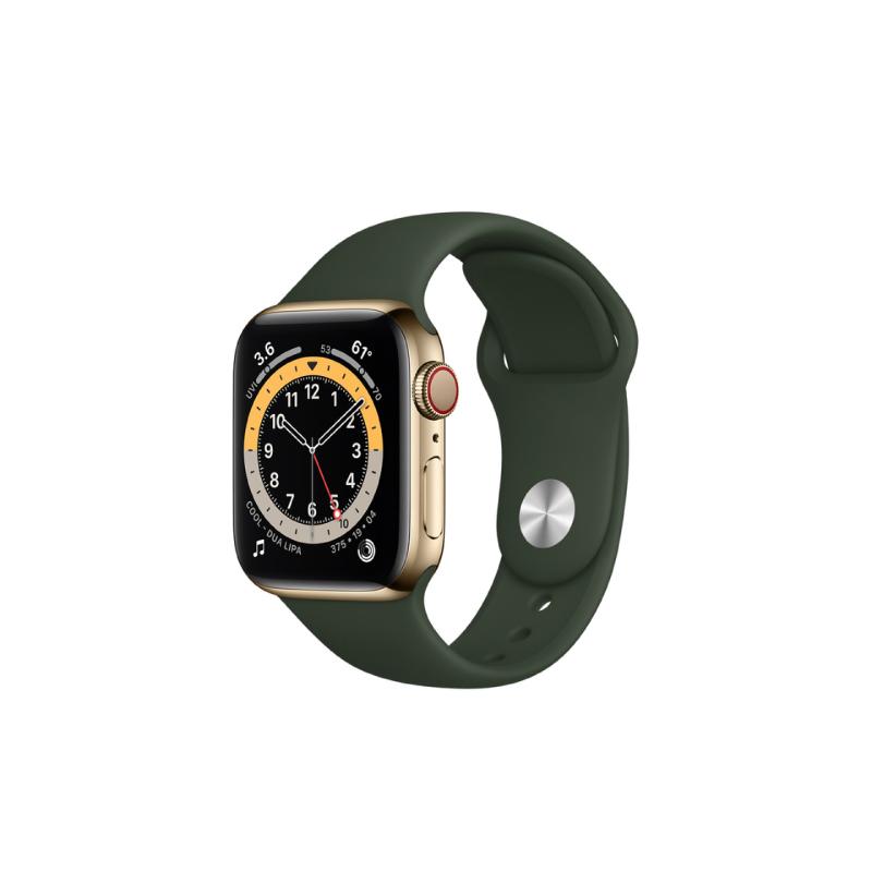 นาฬิกา Apple Watch Series 6 Space Gold Stainless Steel Case with Sport Band