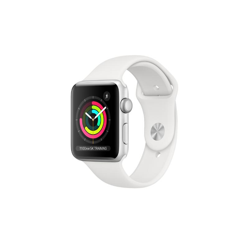 นาฬิกา Apple Watch Series 3 Silver Aluminium Case with Sport Band