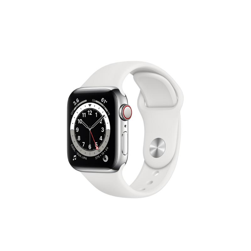 นาฬิกา Apple Watch Series 6 Silver Stainless Steel Case with Sport Band