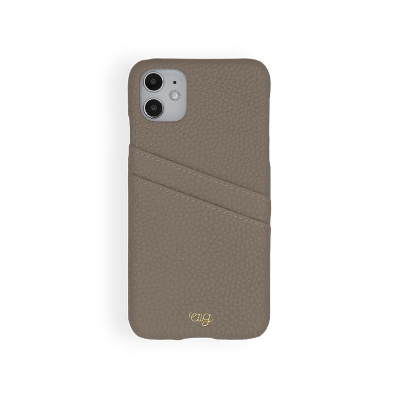 เคส Casetology Genuine Leather Card Holder Case iPhone 11