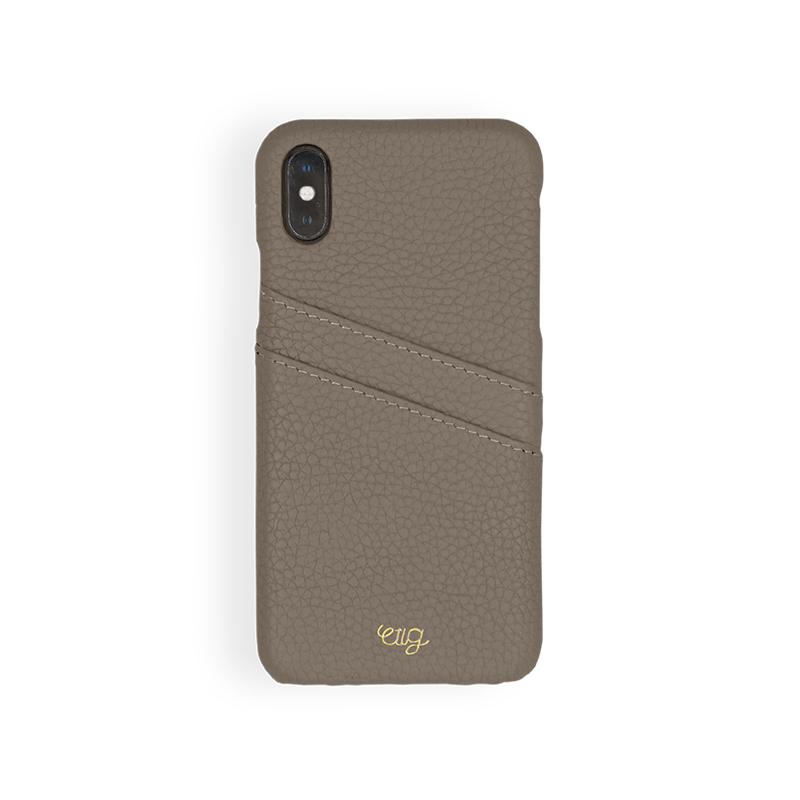 เคส Casetology Genuine Leather Card Holder Case iPhone Xs Max