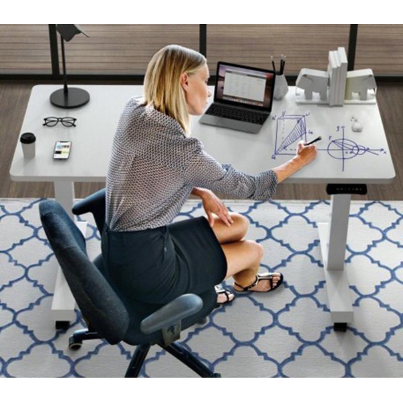 ชุดโต๊ะ Flexispot E3FTW+TWB60120 2 Motor Electric Height Adjustable Flip Table with White Board Table Top 60 x 120 cm