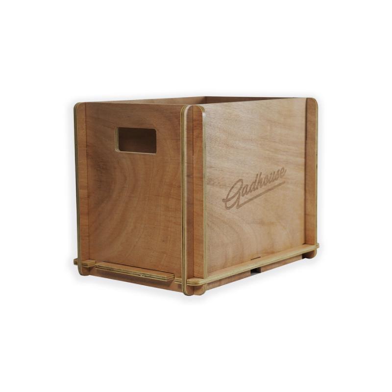 ลังไม้เก็บแผ่นเสียง Gadhouse Vinyl Storage Crate