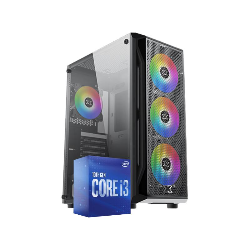 คอมเล่นเกม iHAVECPU Set 28 Intel i3-10100F GEFORCE GT 710 Ram 8GB Computer by iHAVECPU
