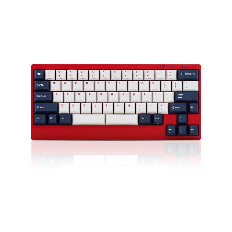 คีย์บอร์ด Leopold FC650M Double Space White/Blue Red case PD Mechanical Keyboard (EN)