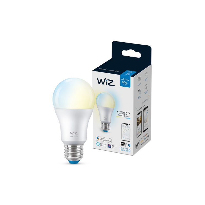 หลอดไฟอัจฉริยะ Philips Wiz Wi-Fi Tunable White 9W A60 927-65 12/1CT
