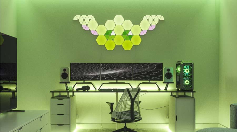 Nanoleaf Shapes Hexagons Smarter Kit (9 Panels) ไฟอัจฉริยะ