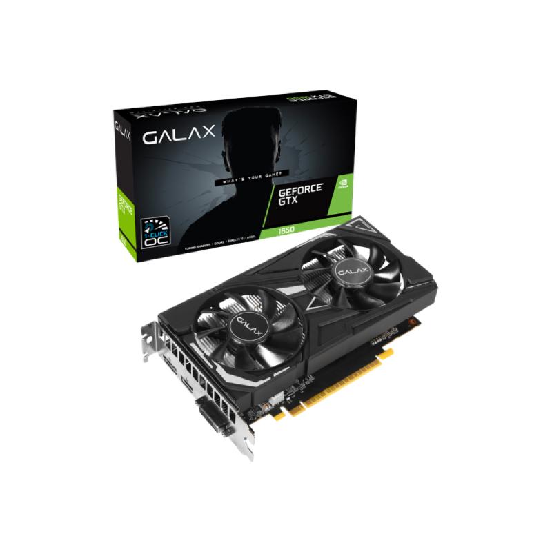 การ์ดจอ Galax GTX1650 EX-1 CLICK OC 4GB GDDR6 128BIT VGA